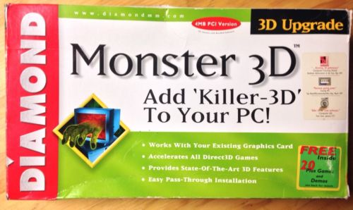 Monster3D card by Diamond Multimedia - 1997