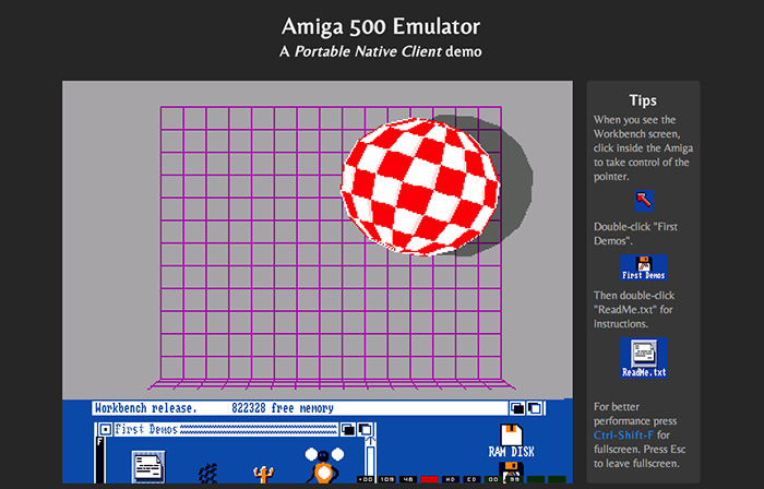Amiga emulator for Chrome