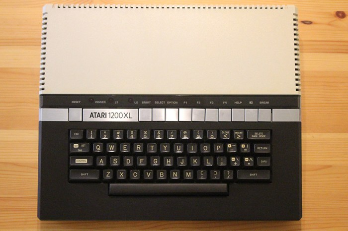 The Atari 1200XL has one of the best and most comfortable keyboards I've ever used.