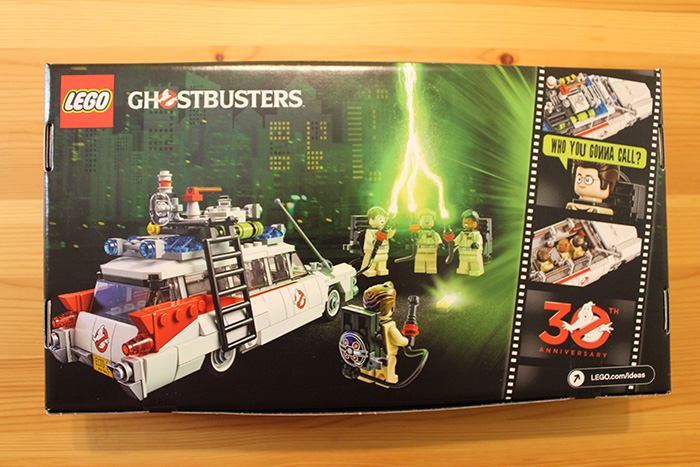 Lego Ghostbusters box, back