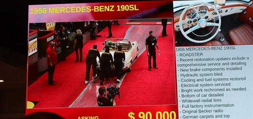Action on the big-screen at Mecum Anaheim 2014.