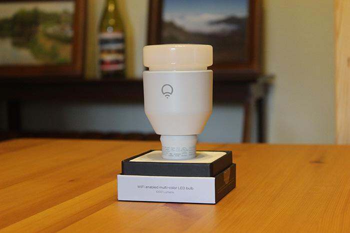 The Lifx bulb, itself.