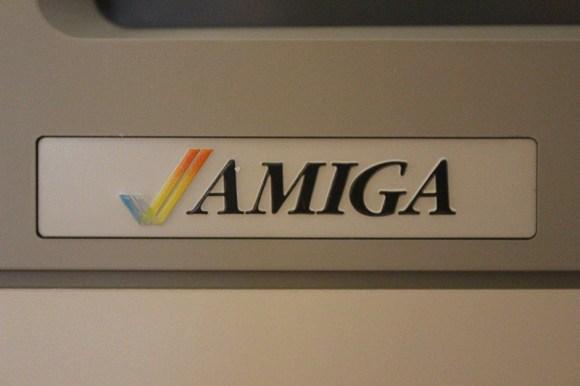 Amiga logo on the 1080 monitor.