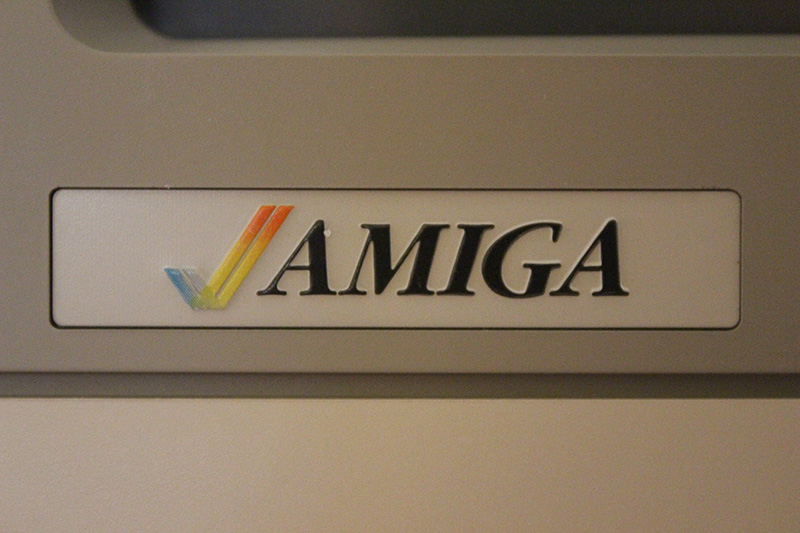 Amiga logo from the 1080 monitor.