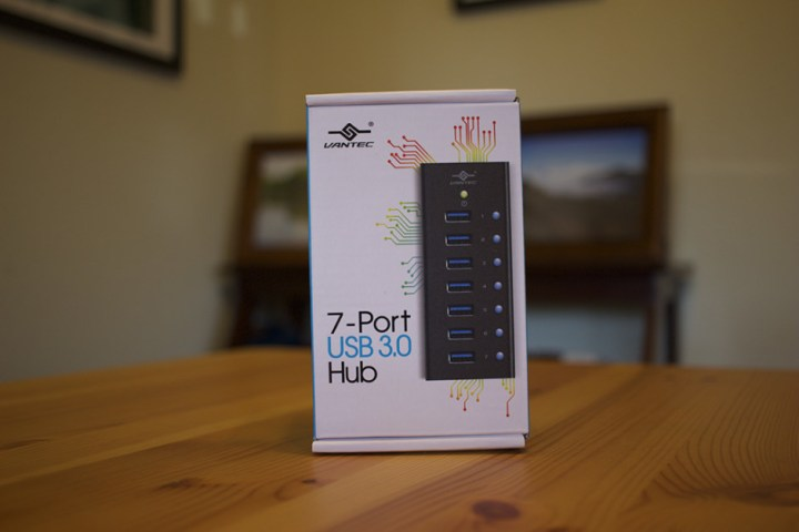 The Vantec 7-Port USB 3.0 Aluminum Hub.