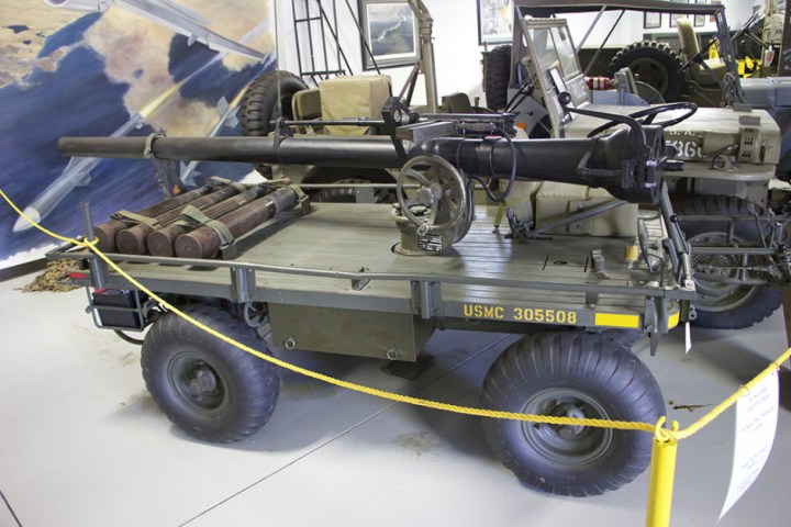 A towable recoilless rifle.