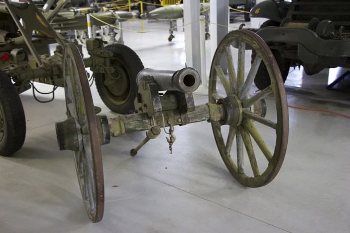 An old cannon on display at Estrella Warbirds.