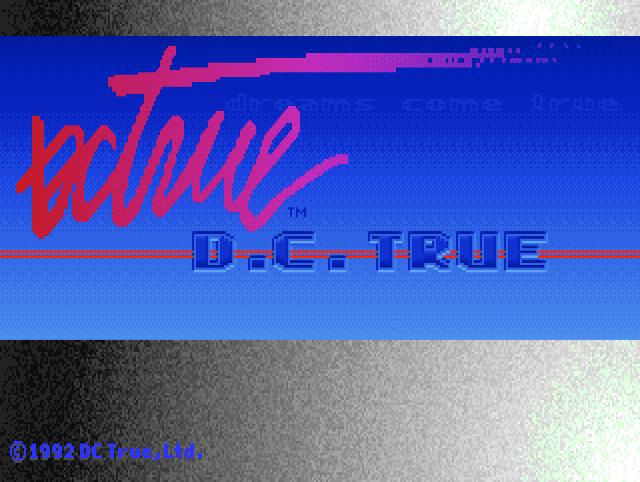 D.C. True splash screen, from Shadow President, 1992.