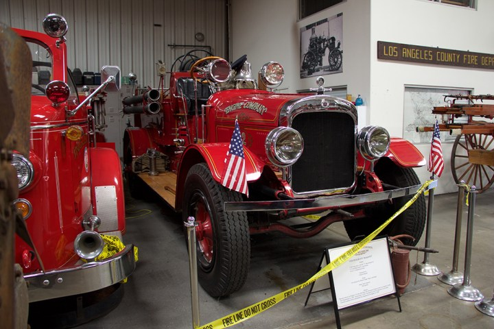 A 1927 Seagrave Triple fire engine.