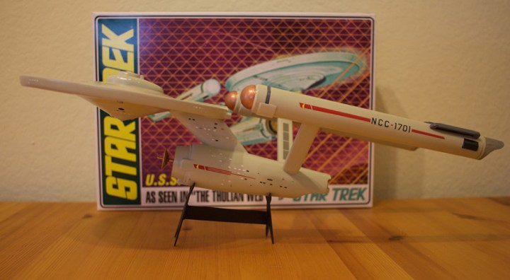 The finished AMT USS Enterprise model.