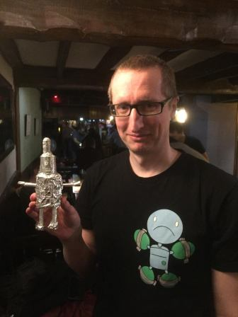 In second place was this creative use of outside materials: Jon with 'Bender'!