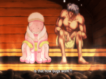 Nagisa works off his bug.