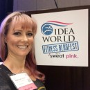Geekout Your Workout's Natalie Atkins arrives at IDEA World's Fitness Blogfest