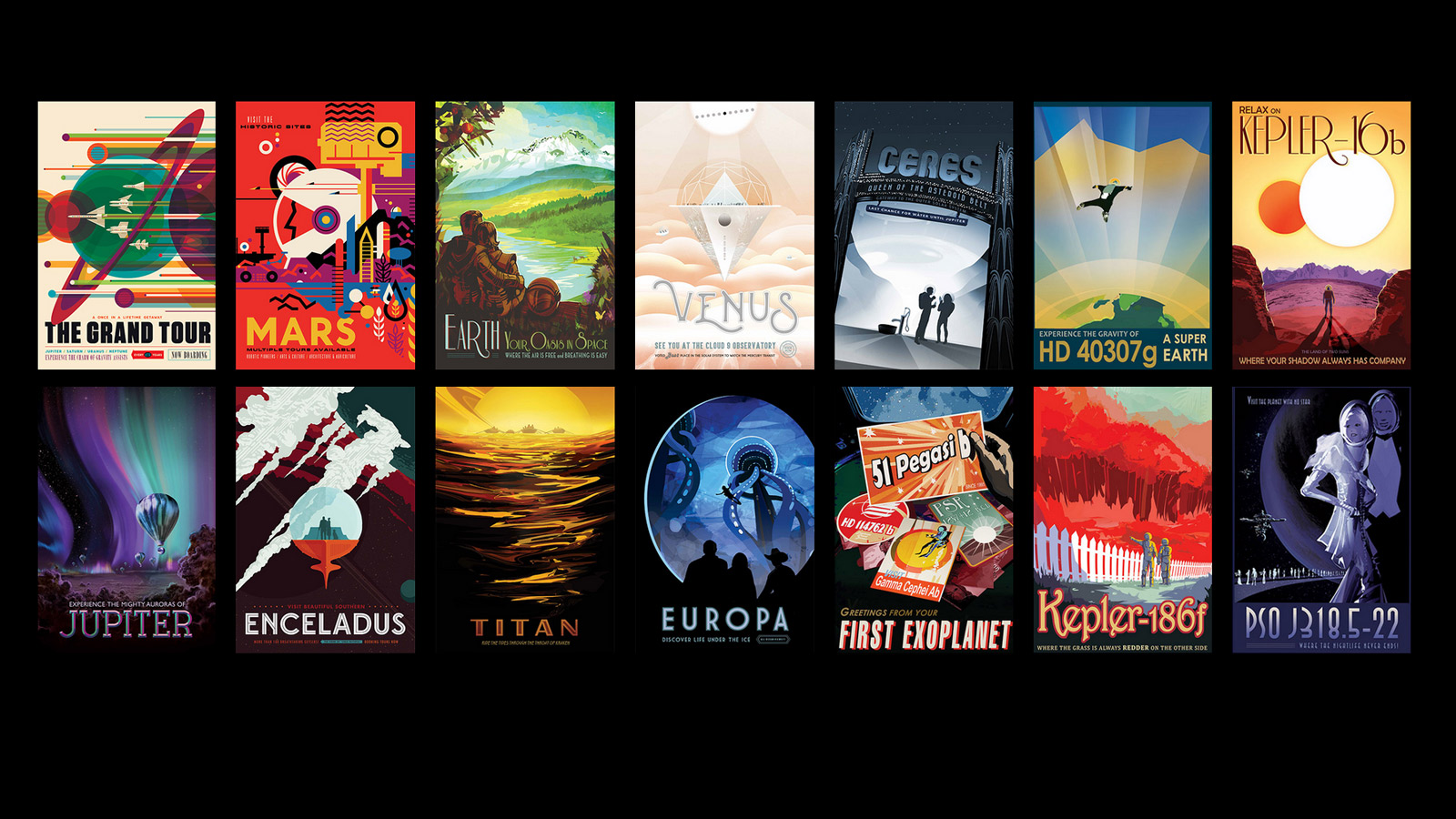 NASA Is Giving Away Free Retro Space Posters & They're Glorious