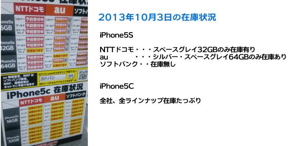 ヨドバシiphone5s在庫状況