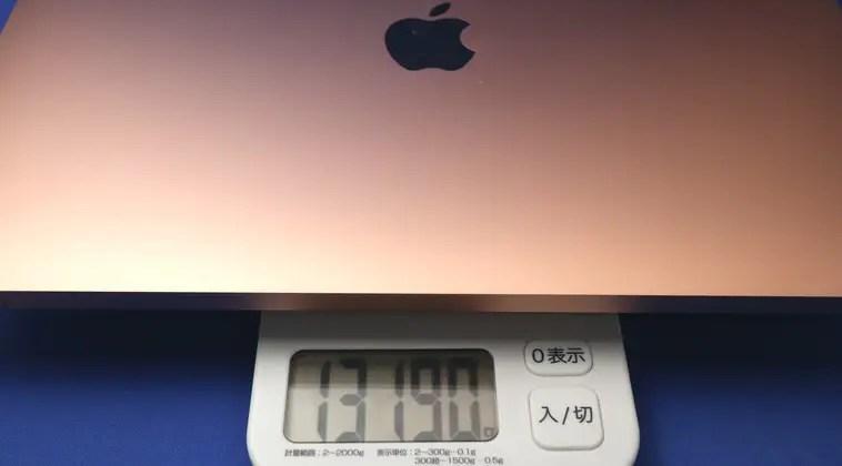 Macbook Airの重量