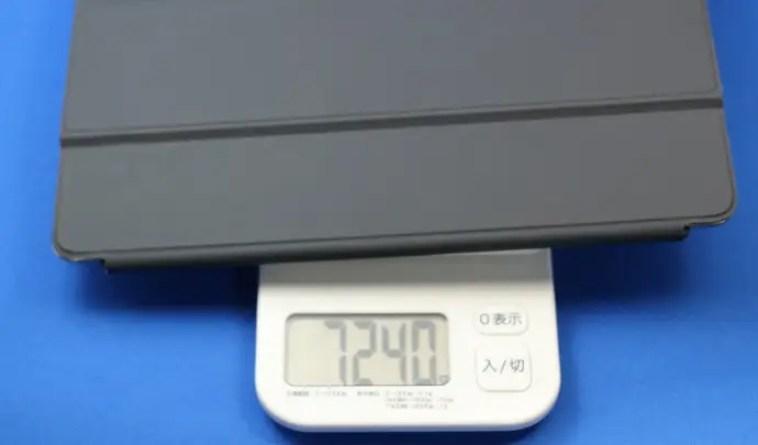 ipadとSmartKeyboardの重さ