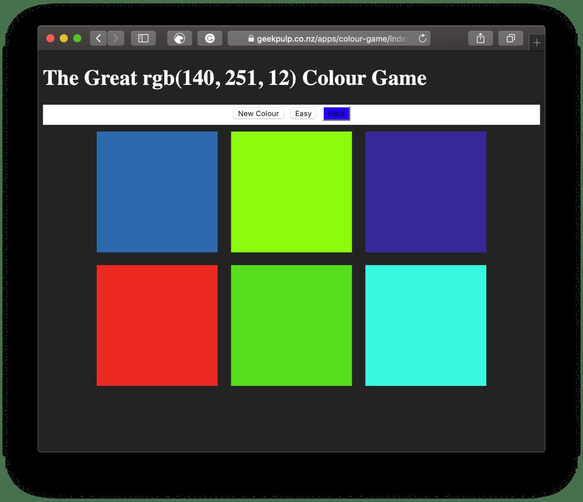 Colour Game Screenshot