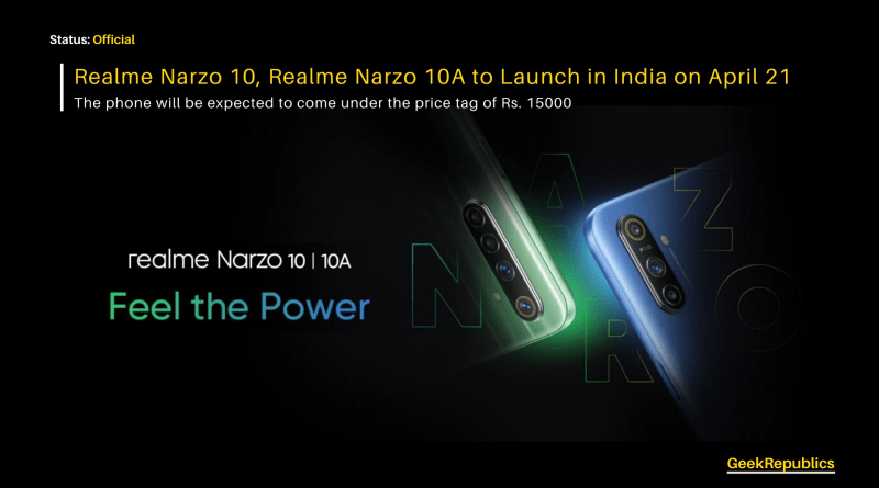 Realme Narzo 10 launch