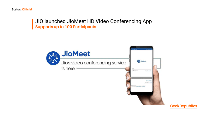 JioMeet video conferencing app starts rolling out supports up to 100 users