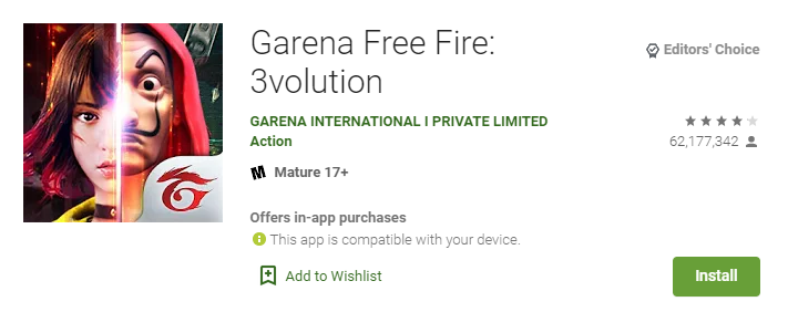 Garena Free Fire - Evolution - Battle Royale Games