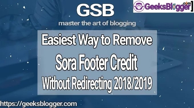 How to Remove Sora Templates Footer Credit (Step by Step)