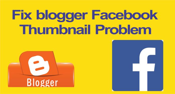 Fix blogger facebook thumbnail problem
