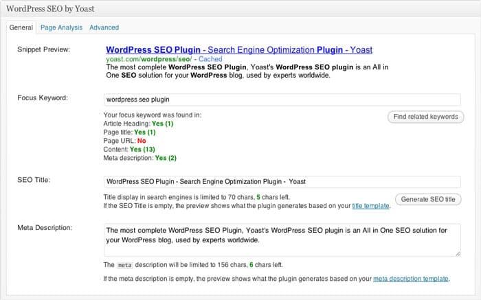 Search Engine Optimization seo (Yoast WordPress SEO)