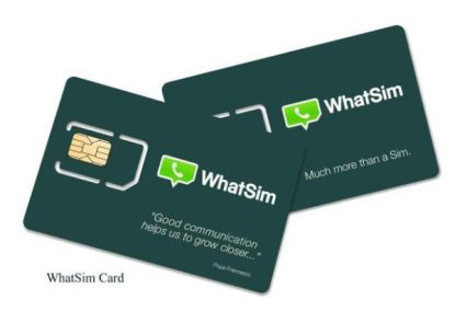 whatsim card for whatsapp