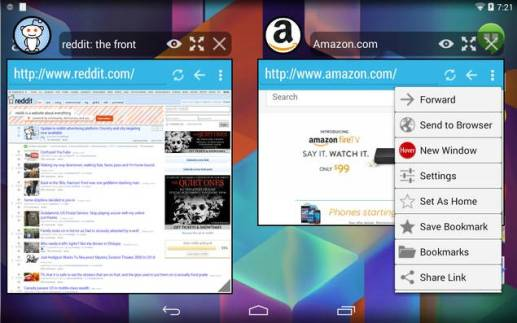 hower android browser