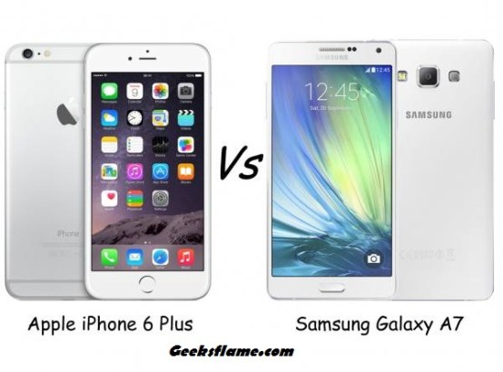 galaxy a7 vs iphone 6 plus