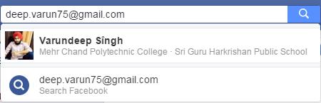 email facebook finder