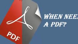 when use pdf