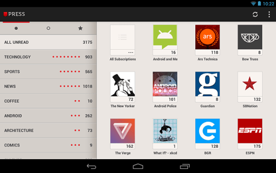 press tablet app android