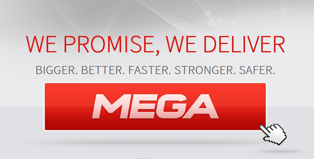 mega.co.nz landing page