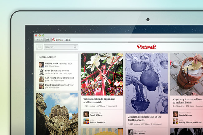pinterest new design