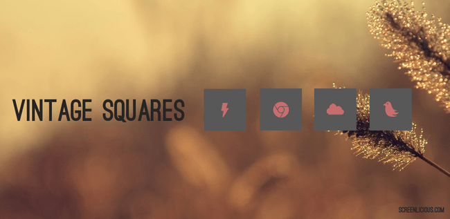 vintage squares android icon pack