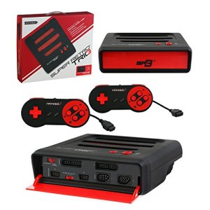 Retro-Bit-Super-Retro-Trio-3-in-1-Console-RedBlack-NESSNESMega-Drive-PAL-Version-Electronic-Games-0