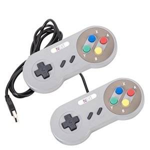 iNNEXT-2-Pack-SNES-USB-Retro-Controller-with-Nintendo-Game-Controller-Joypad-for-Windows-PC-Mac-0