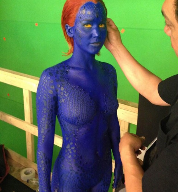 Jennifer Lawrence as Mystique, First set Photo for New X-Men