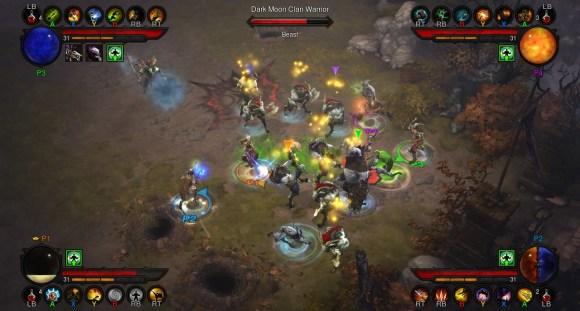 Diablo 3 Console Gameplay Screen
