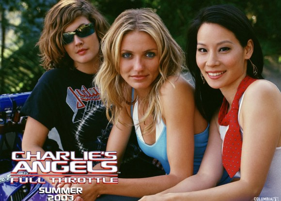 Drew Barrymore, Cameron Diaz and Lucy Liu in Charlie's Angels