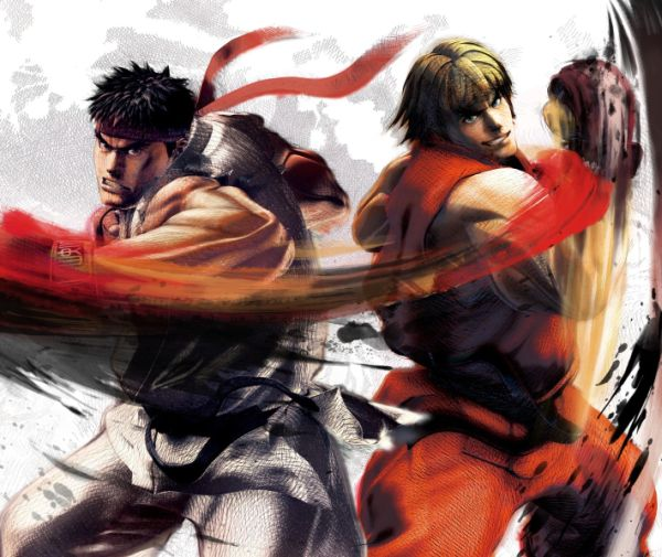 Popular game characters Ryu and Ken