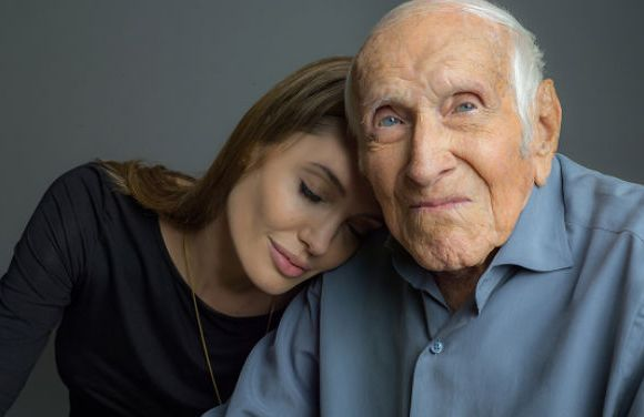 Angelina Jolie with Louis Zamperini