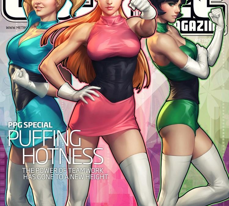 Amazing Justice Magazine Power Puff Girls Art