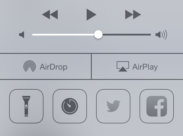iOS7 Tip: Enable Twitter and Facebook Sharing to Control Center