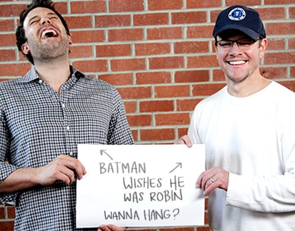 Video: Matt Damon and Ben Affleck Insult Each Other For Charity