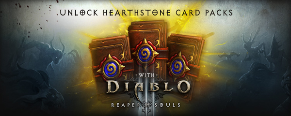 Free HearthStone Expert Packs with your Diablo 3 Reaper of Souls Purchase