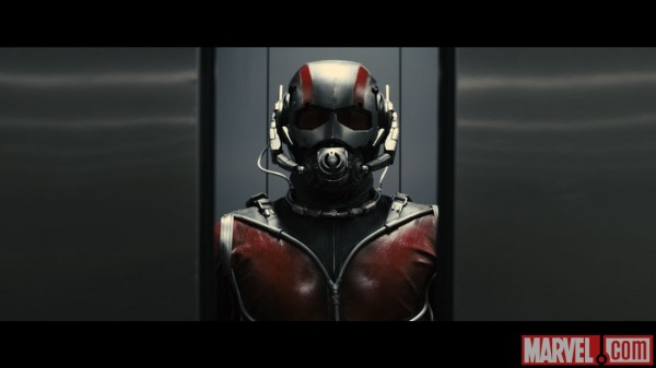 Ant-Man revealed with his mask on