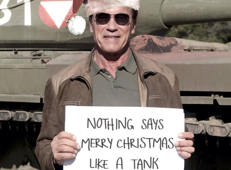 Watch Arnold Schwarzenegger Crush Things with a Tank
